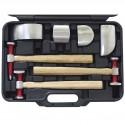 Coffret 3 marteaux + 4 tas pour carrossier