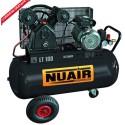Compresseur d'air à piston 100 litres moteur 3 CV tête bi-cylindre NUAIR