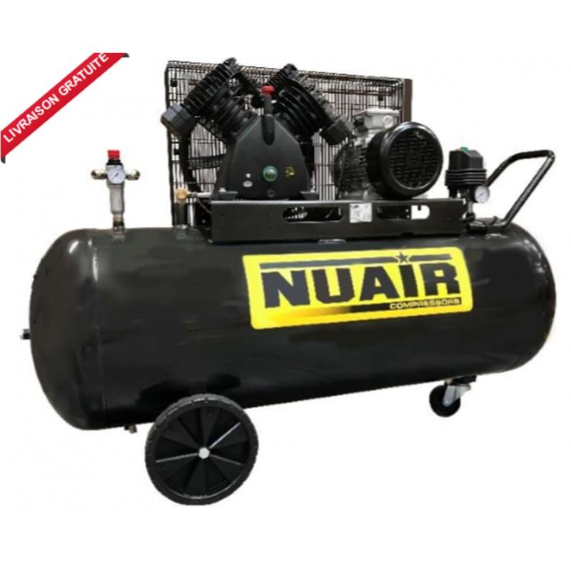 compresseur d 39 air 270 litres moteur triphas de 5 5 cv nuair. Black Bedroom Furniture Sets. Home Design Ideas