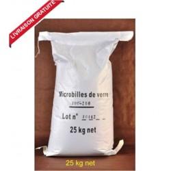 25 kg Microbilles de Verre pour cabine de sablage et sableuse mobile