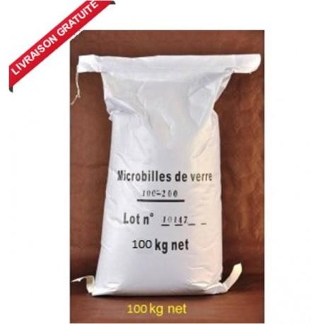 Sac de 100 kg Granulat de Verre pour cabine de sablage
