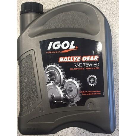 Huile Boite de vitesse Igol Rallye Gear 75W-80W