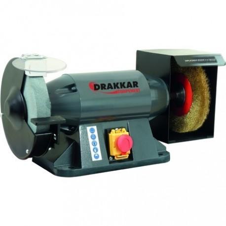 Touret meule industriel / brosse ∅ 150 mm Drakkar equipement