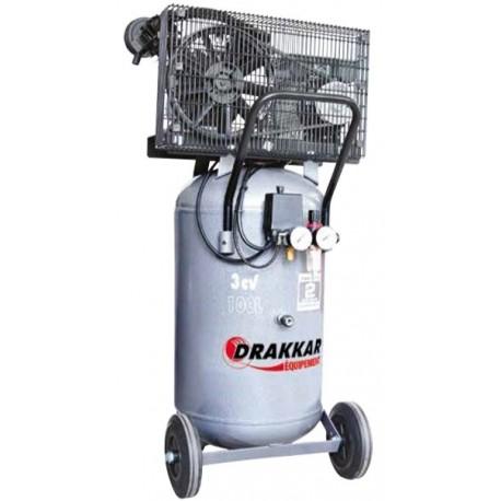 Compresseur d'air vertical 3 CV 100 litres Drakkar equipement