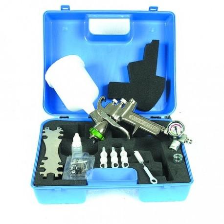 Pistolet peinture HVLP en mallette - professionnel Drakkar equipement