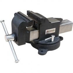 Étau acier à base pivotante ouverture 120 mm