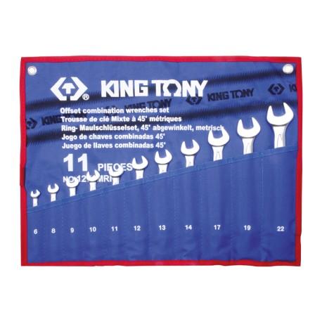 Trousse de clés mixtes à 45° métriques - 11 pièces