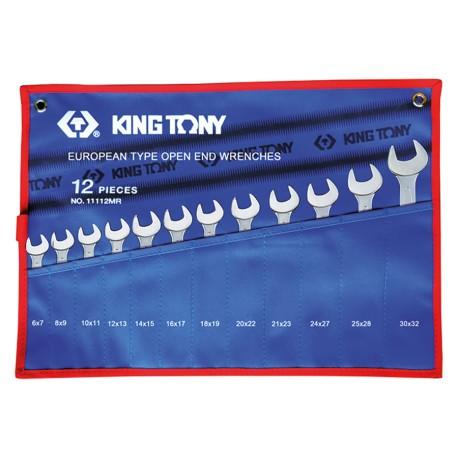Trousse de clés fourches métriques - 12 pièces