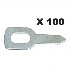 100 Anneaux de tirage droit