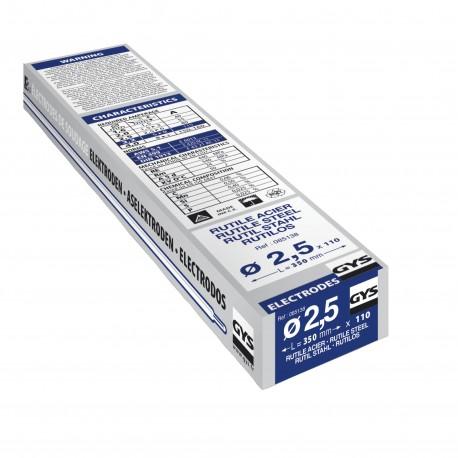 110 Électrodes acier rutile E6013 Ø 2,5