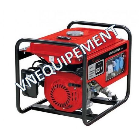 Groupe électrogène monophasé essence 2200W - 11017 - Drakkar equipement