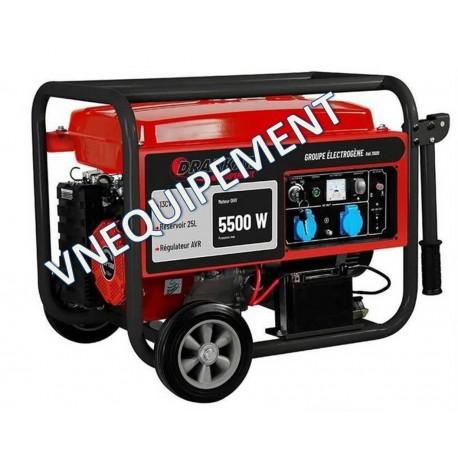 Groupe électrogène monophasé essence 5500W - Drakkar equipement