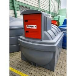 Cuve de stockage gasoil fioul GNR 2500 litres avec pompe