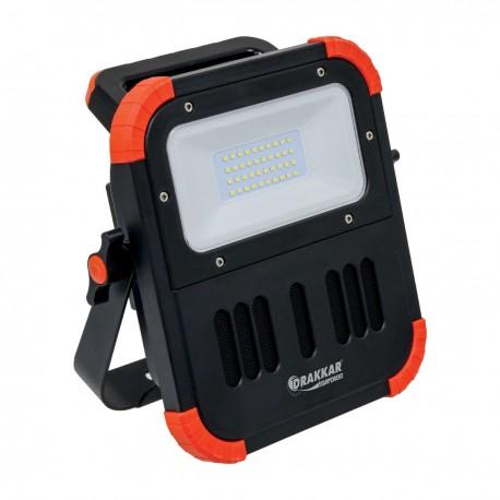 Projecteur LED rechargeable, portable, avec haut parleur bluetooth