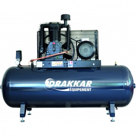 Compresseur d'air 10CV 500 litres moteur triphasé 11257