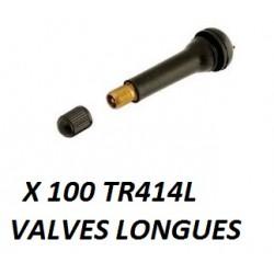 Valve de roue longue (x100) TR414L
