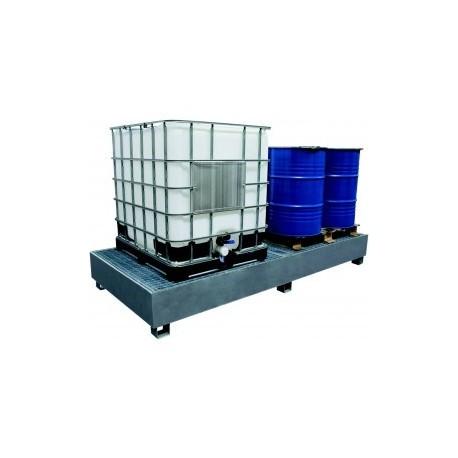 Bac de rétention en acier 1000 litres - Drakkar equipement