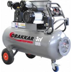 Compresseur d'air 3CV 150 litres 230V - 11270 Drakkar Equipement