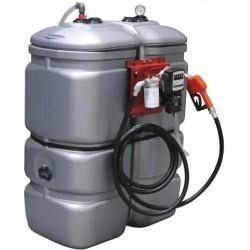 Cuve stockage gasoil PEHD DP 750 litres avec pompe - 08063 - Drakkar Equipement