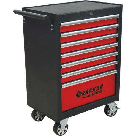 Servante 7 tiroirs avec 170 outils - 25109 - drakkar equipement