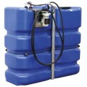Cuve stockage AdBlue PEHD 2000 litres avec pompe et pistolet automatique