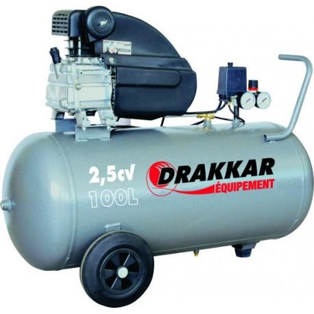 Compresseur d'air 2.5CV 100 litres 230V
