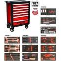 Servante d'atelier 7 tiroirs - 187 outils - 25114