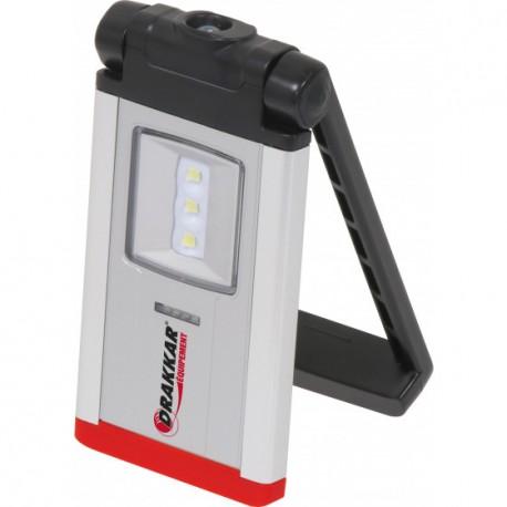 Lampe de poche ultra plate rechargeable 3 + 1 LED