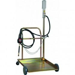 Pompe pneumatique huile avec chariot et pistolet digital
