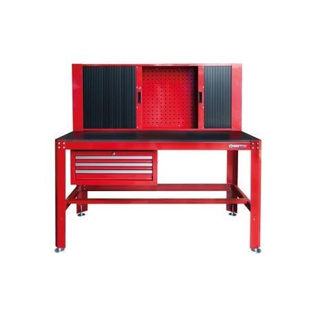 tabli d 39 atelier avec armoire rideau et tiroirs. Black Bedroom Furniture Sets. Home Design Ideas