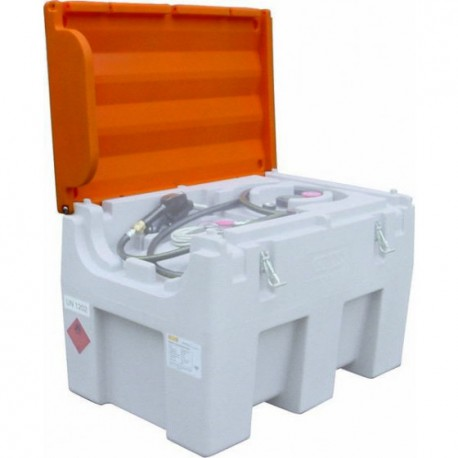 Cuve de ravitaillement gasoil 600L 12V 45l/min avec capot 08038