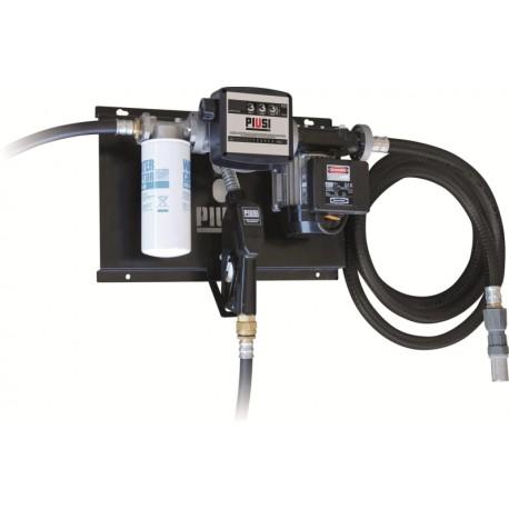 Station gasoil 230V 100L/min avec filtre, pistolet et compteur(avec tuyau d'aspiration)