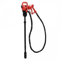 Pompe gasoil 12/230V avec canne télescopique pour fût