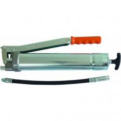 Pompe à graisse manuelle avec flexible renforcé /agrafe et valve de remplissage
