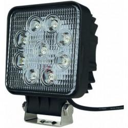 Phare de travail carre 9 LED faisceau large