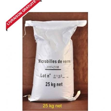 30 kg Granulat de Verre pour cabine de sablage et sableuse mobile
