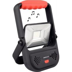 Projecteur portable LED rechargeable avec haut parleur