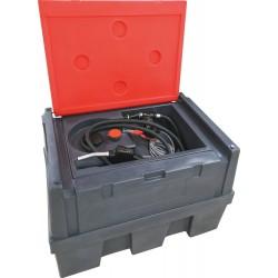 Cuve de ravitaillement gasoil 450L 12V 45L/min avec capot - 08041