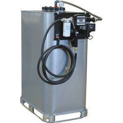 Cuve de stockage galvanisée DP 1000 litres avec station à gasoil et pistolet