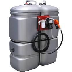 Cuve de stockage PEHD gasoil 1000 litres avec pompe et pistolet