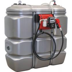 Cuve de stockage gasoil PEHD DP 1500 litres avec pompe
