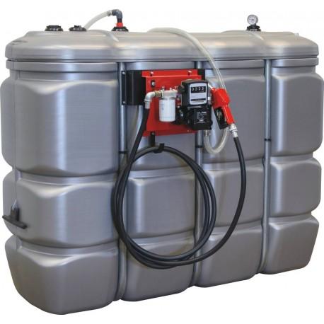 Cuve stockage gasoil fuel PEHD DP 2000L Station 230V 60l/min