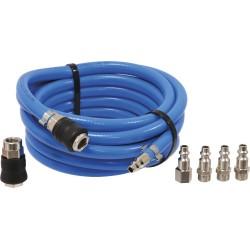 Rallonge tuyau d'air comprimé 5 mètres avec raccords stilker 06497