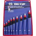 Jeu de chasse goupilles gainés - 9 pièces - King Tony - 1009GRN