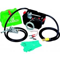 Pompe gasoil 12V 50L/min avec tuyau d'aspiration et de refoulement