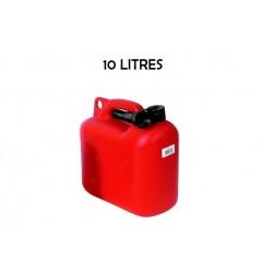 Jerrican plastique 10 litres avec bec verseur flexible