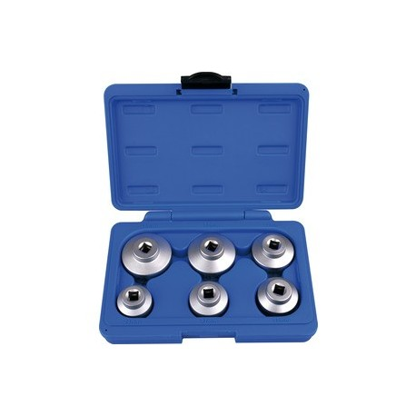 Coffret de douilles pour filtre à huile - 6 pièces