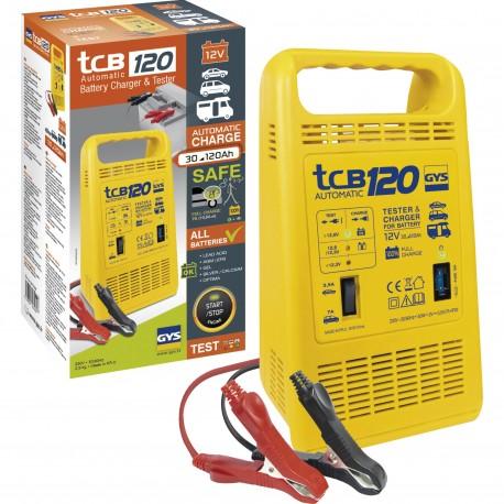 Chargeur et testeur de batterie automatique TCB 120 GYS