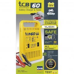 Chargeur et testeur de batterie 12V automatique TCB 60 GYS