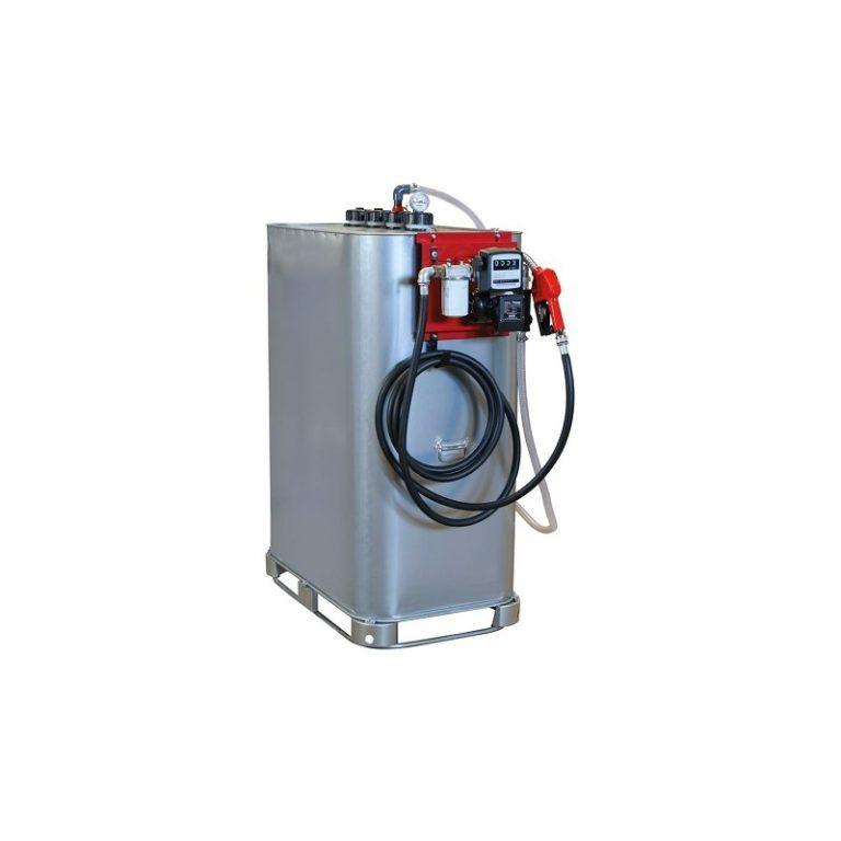 Cuve de stockage gasoil galvanisée dp 1000L avec pompe
